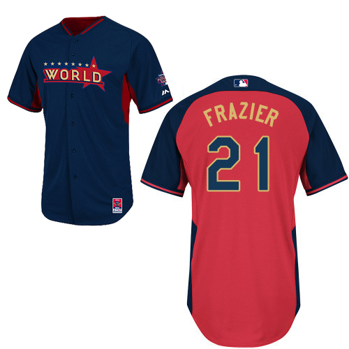 World 21 Frazier Blue 2014 Future Stars BP Jerseys