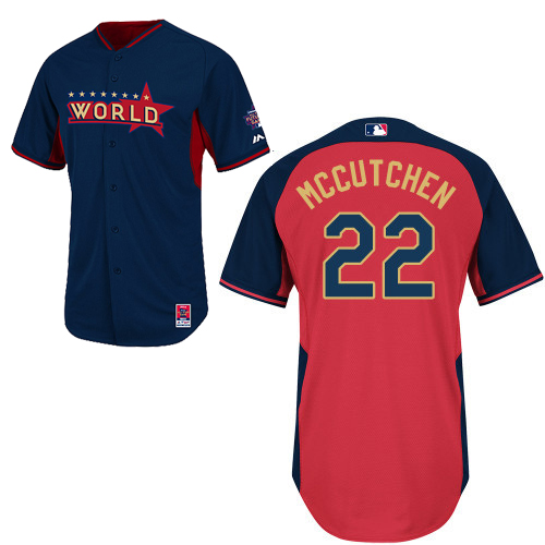 World 22 Mccutchen Blue 2014 Future Stars BP Jerseys