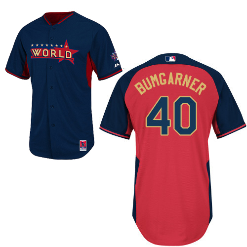World 40 Bumgarner Blue 2014 Future Stars BP Jerseys