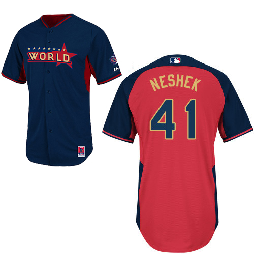 World 41 Neshek Blue 2014 Future Stars BP Jerseys