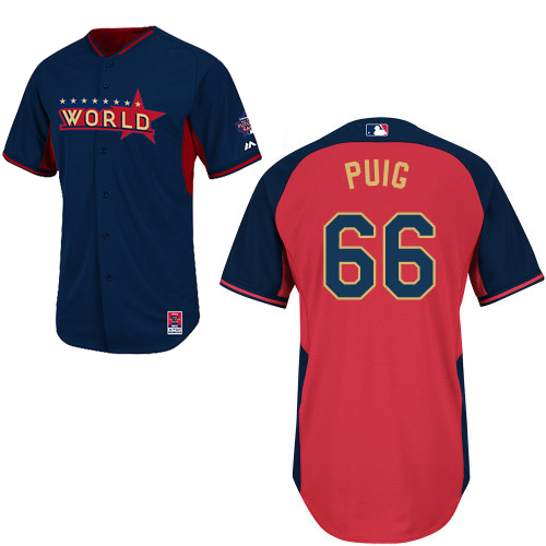 World 66 Puig Blue 2014 Future Stars BP Jerseys