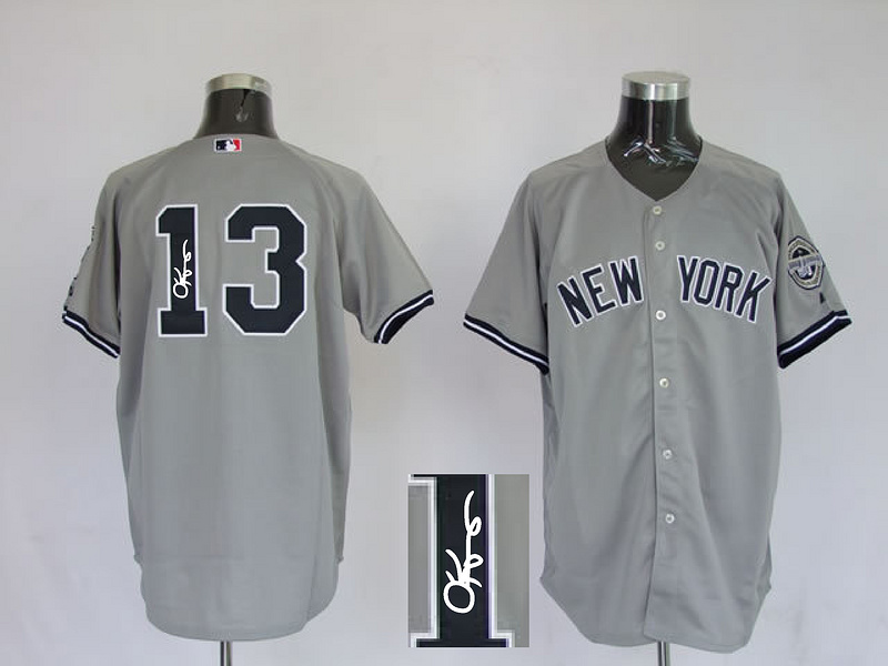 Yankees 13 Rodriguez Grey Signature Edition Jerseys