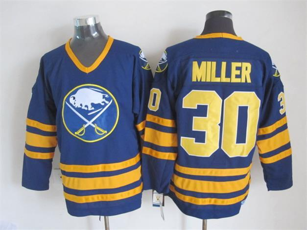 Sabres 30 Miller Blue CCM Jersey