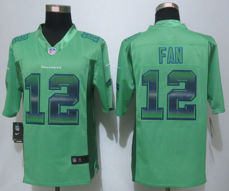 Nike Seahawks 12 Fan Green Pro Line Fashion Strobe Jersey