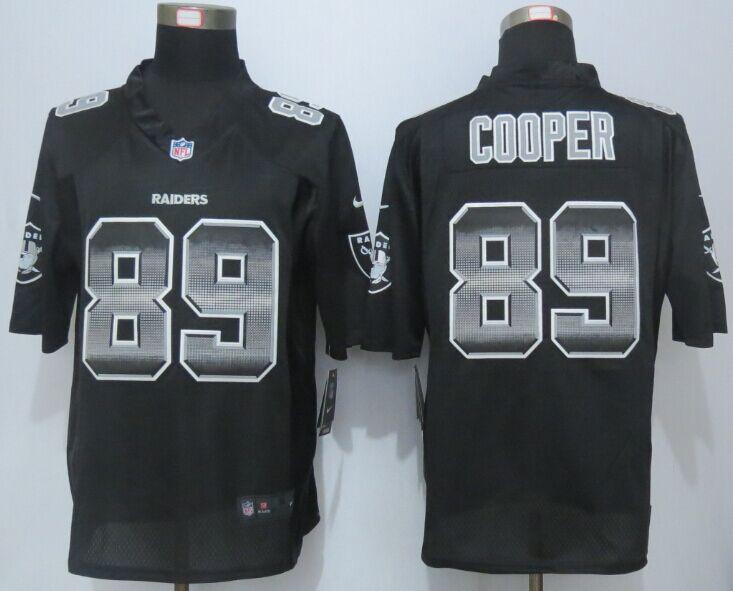 Nike Raiders 89 Amari Cooper Black Pro Line Fashion Strobe Jersey