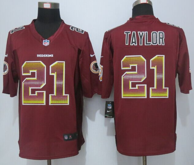Nike Redskins 21 Sean Taylor Red Pro Line Fashion Strobe Jersey