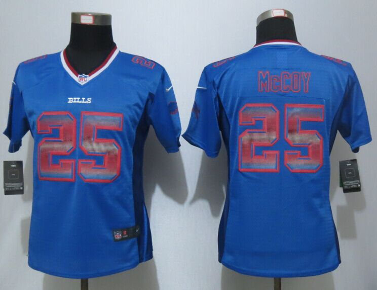 Nike Bills 25 LeSean McCoy Blue Pro Line Fashion Strobe Women Jersey