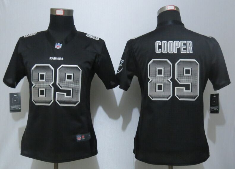 Nike Raiders 89 Amari Cooper Black Pro Line Fashion Strobe Women Jersey