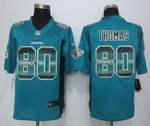Nike Jaguars 80 Julius Thomas Green Pro Line Fashion Strobe Jersey