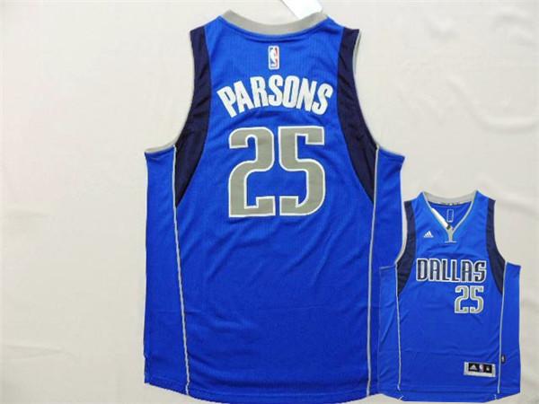 Mavericks 25 Parsons Royal Blue New Revolution 30 Jerseys