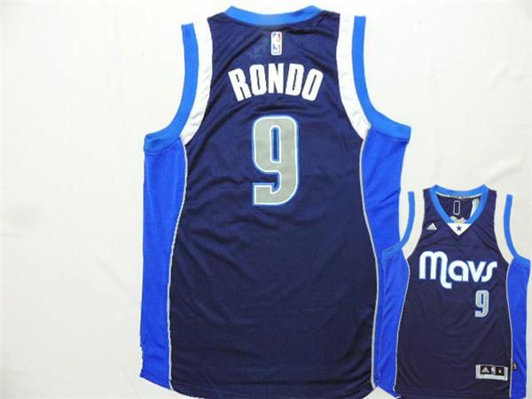 Mavericks 9 Rondo Navy Blue New Revolution 30 Jerseys