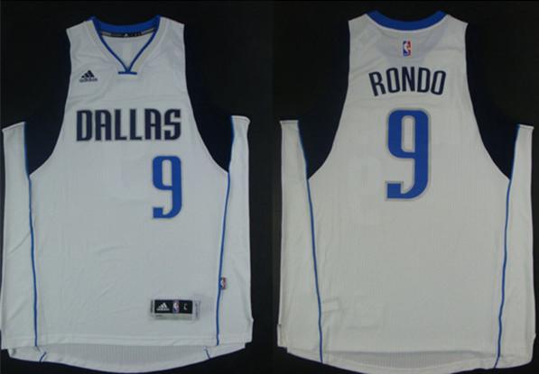 Mavericks 9 Rondo White New Revolution 30 Jerseys