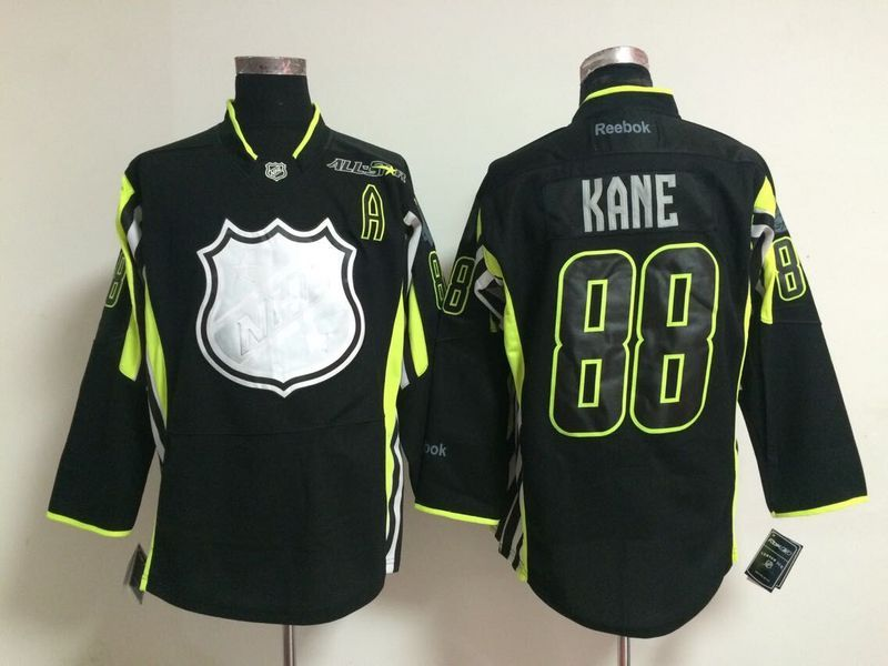 Blackhawks 88 Patrick Kane Black 2015 All Star Jersey