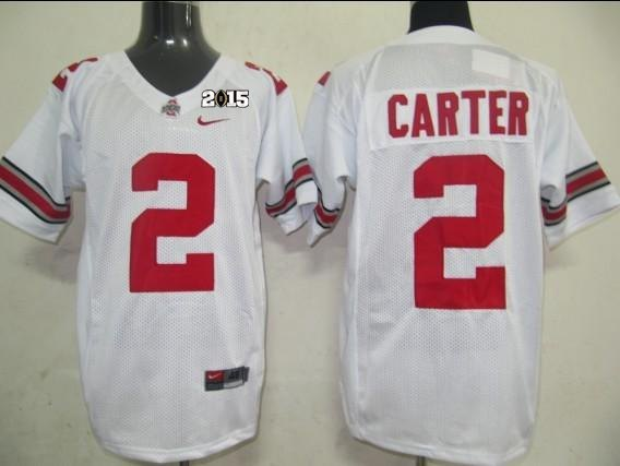 Ohio State 2 Carter White NCAA 2015 Playoff Championship Jerseys
