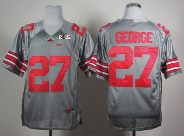 Ohio State 27 George Grey NCAA 2015 Playoff Championship Jerseys