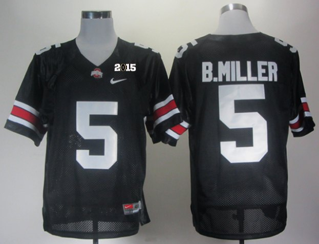 Ohio State 5 B Miller Black NCAA 2015 Playoff Championship Jerseys