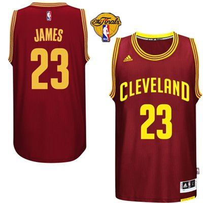 Cavaliers 23 James Red 2015 NBA Finals New Rev 30 Jersey