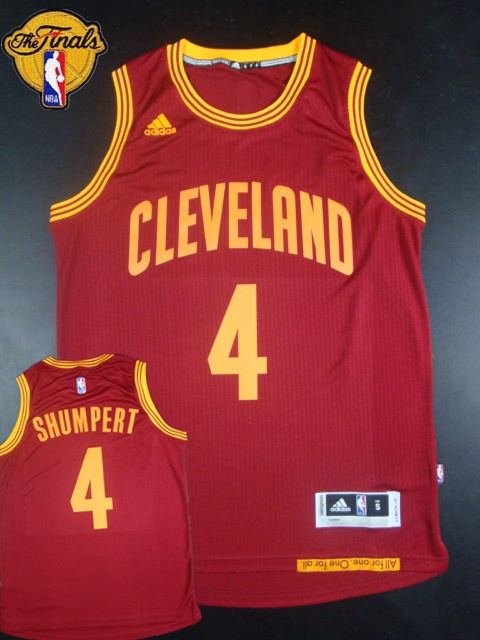 Cavaliers 4 Shumpert Red 2015 NBA Finals New Rev 30 Jersey