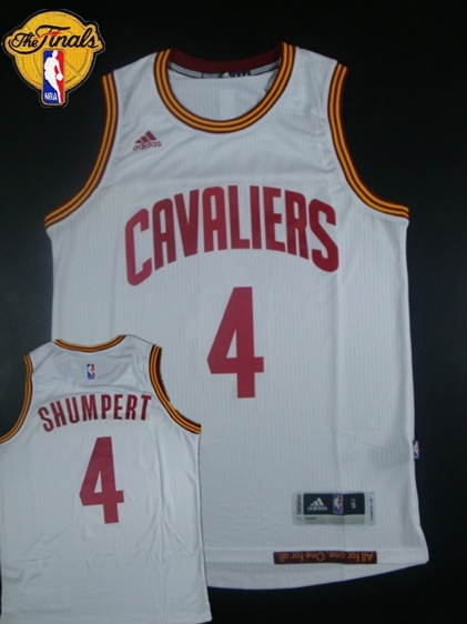 Cavaliers 4 Shumpert White 2015 NBA Finals New Rev 30 Jersey