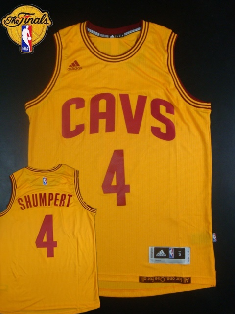 Cavaliers 4 Shumpert Yellow 2015 NBA Finals New Rev 30 Jersey