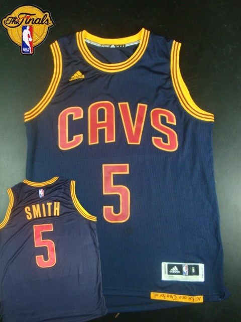 Cavaliers 5 J.R.Smith Blue 2015 NBA Finals New Rev 30 Jersey