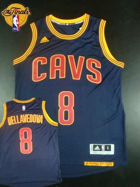 Cavaliers 8 Dellavedova Blue 2015 NBA Finals New Rev 30 Jersey