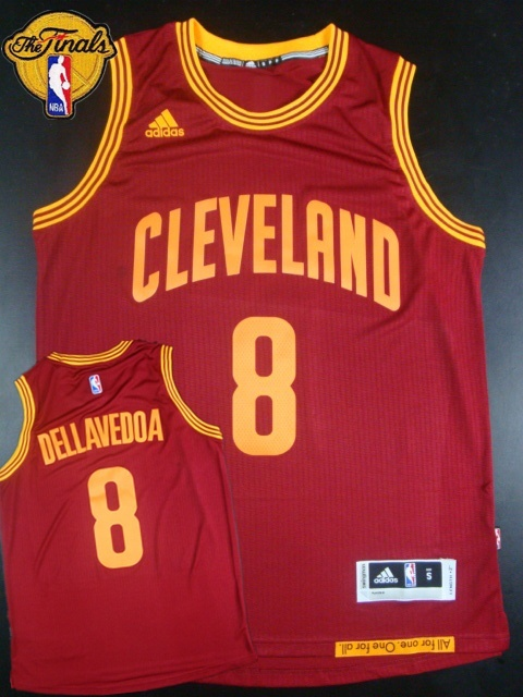 Cavaliers 8 Dellavedova Red 2015 NBA Finals New Rev 30 Jersey
