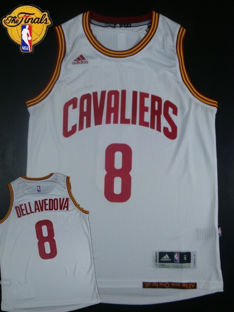 Cavaliers 8 Dellavedova White 2015 NBA Finals New Rev 30 Jersey