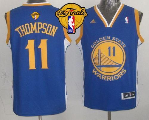 Warriors 11 Thompson Blue 2015 NBA Finals New Rev 30 Jersey