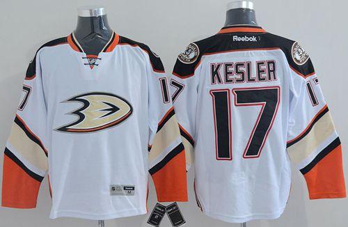 Ducks 17 Ryan Kesler White New Road Jerseys