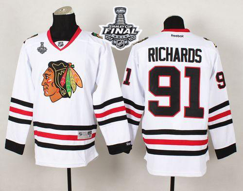 Blackhawks 91 Brad Richard White 2015 Stanley Cup Jersey