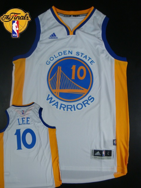 Warriors 10 Lee Blue 2015 NBA Finals New Rev 30 Jersey