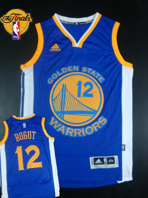 Warriors 12 Bogut Blue 2015 NBA Finals New Rev 30 Jersey
