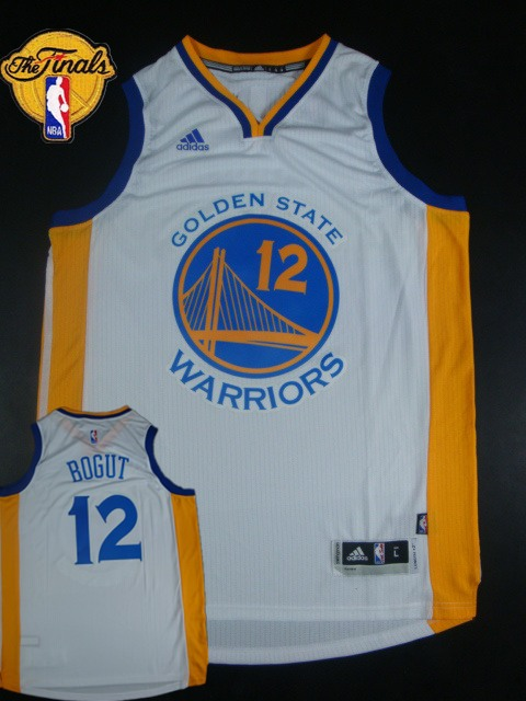Warriors 12 Bogut White 2015 NBA Finals New Rev 30 Jersey