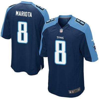 Nike Titans 8 Marcus Mariota Navy Blue Elite Big Size Jersey