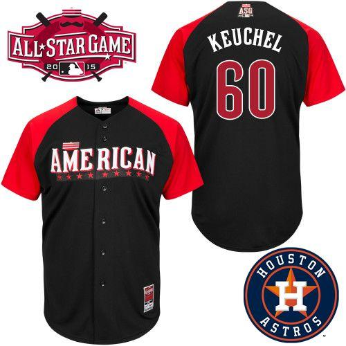 American League Astros 60 Keuchel Black 2015 All Star Jersey