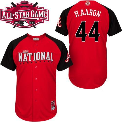 National League Braves 44 H.Aaron Red 2015 All Star Jersey