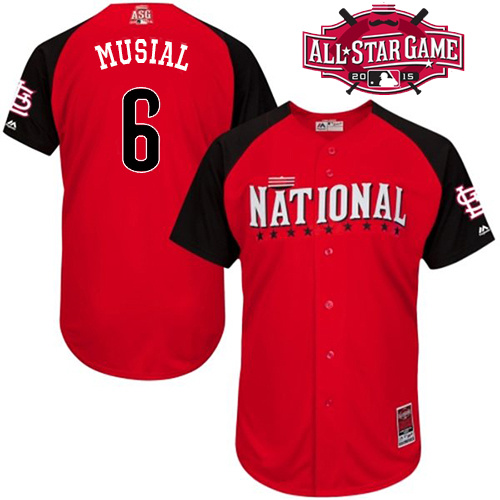 National League Cardinals 6 Musial Red 2015 All Star Jersey