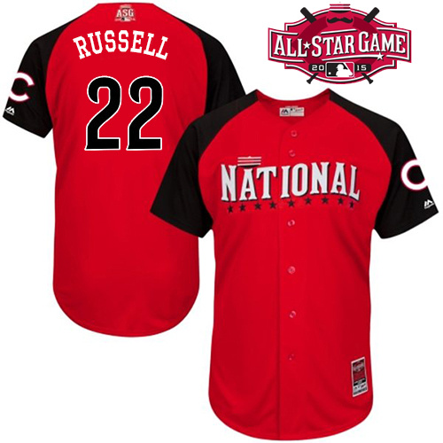 National League Cubs 22 Russell Red 2015 All Star Jersey