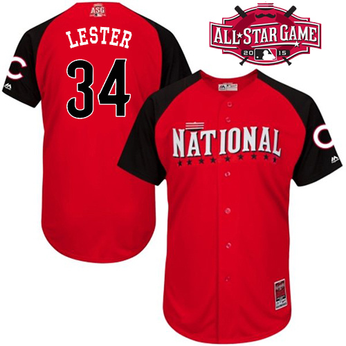 National League Cubs 34 Lester Red 2015 All Star Jersey