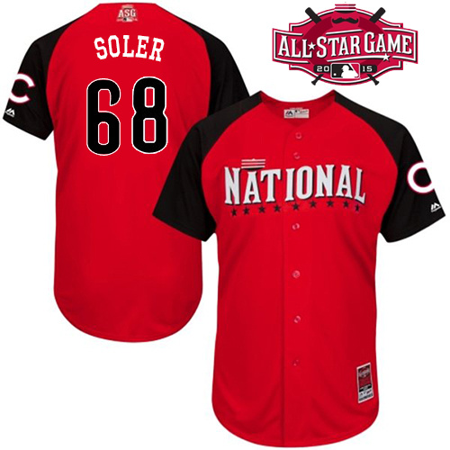 National League Cubs 68 Soler Red 2015 All Star Jersey