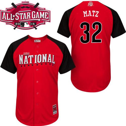 National League Mets 32 Matz Red 2015 All Star Jersey