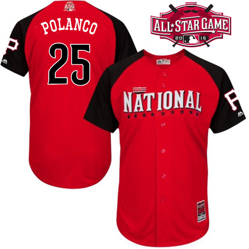 National League Pirates 25 Polanco Red 2015 All Star Jersey