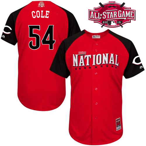 National League Reds 54 Cole Red 2015 All Star Jersey