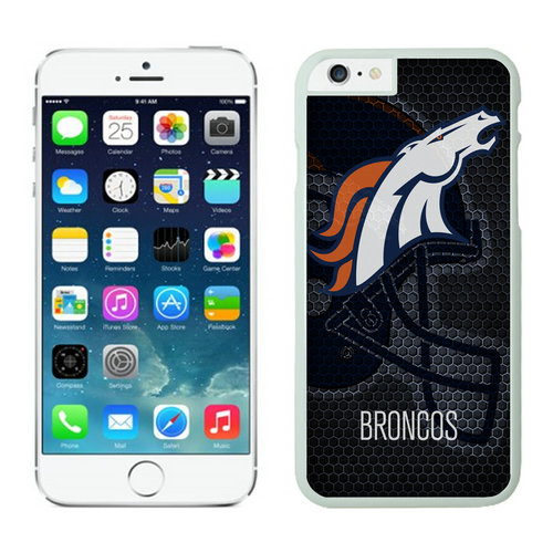 Denver Broncos iPhone 6 Cases White