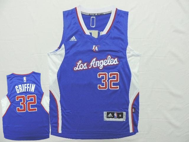 Clippers 32 Griffin Blue New Revolution 30 Jersey