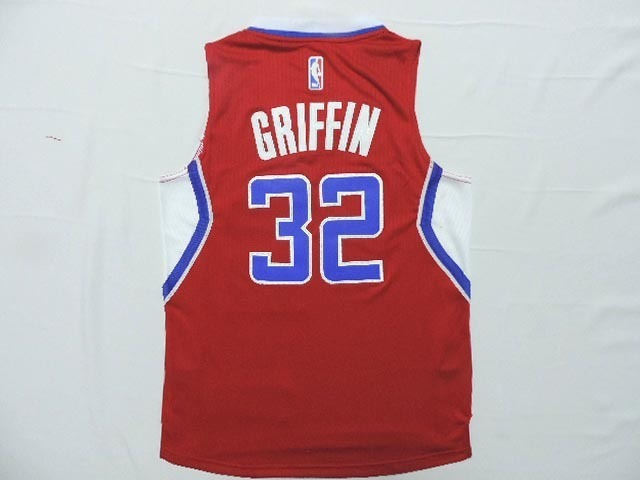 Clippers 32 Griffin Red New Revolution 30 Jersey
