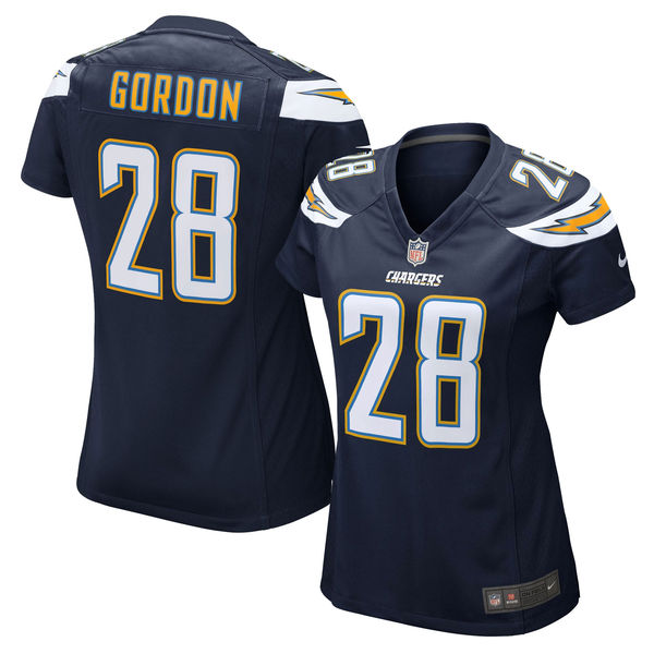 Nike Chargers 28 Melvin Gordon Navy Blue Women Game Jersey