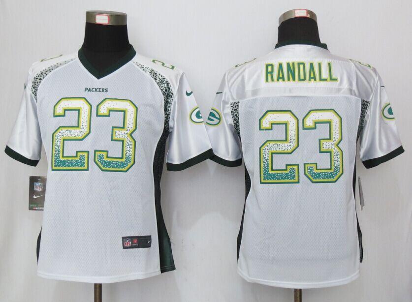 Nike Packers 23 Damarious Randall White Drift Fashion Women Jersey