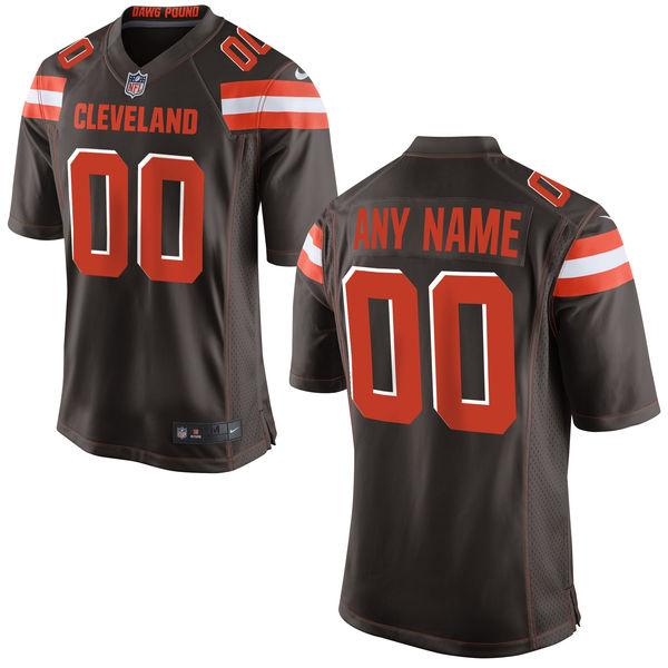 Nike Browns Brown Men's Customized Elite Jersey